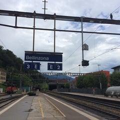 Photo taken at Stazione di Bellinzona by fierce on 8/1/2014
