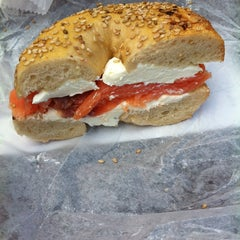 Photo taken at Towson Hot Bagels by Emily F. on 9/14/2013