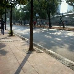 Photo taken at Jalan Jenderal Sudirman by aish a. on 9/16/2012