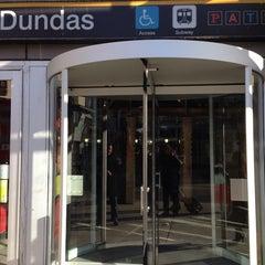 Photo taken at Dundas Subway Station by りさっち on 3/23/2014