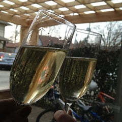 Photo taken at Petite Chou Bistro and Champagne Bar by Rebecca L. on 2/10/2013