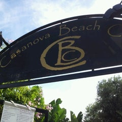Photo taken at Casanovas Beach Club by Luigi B. on 10/21/2012