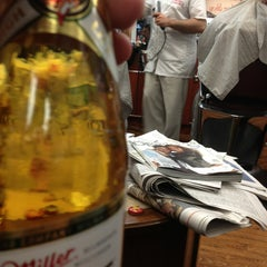 Photo taken at Clinton Street Barbershop by Mark H. on 8/16/2013