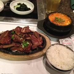 Photo taken at Cho Sun Gal Bi Korean BBQ & Sushi Bar by Hyeran J. on 4/19/2014