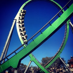 Photo taken at The Incredible Hulk Coaster by Ton M. on 12/19/2012