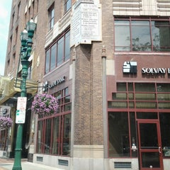 Photo taken at Solvay Bank by Scott's Taxi on 7/9/2013