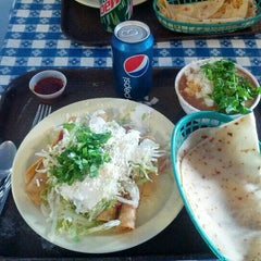 Photo taken at Las Cuatro Milpas by Sean L. on 10/23/2012