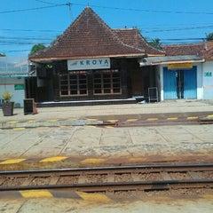 Photo taken at Stasiun Kroya by Riza Fadholi P. on 6/20/2015