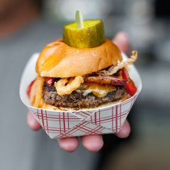 Photo taken at Sacramento Burger Battle 2015 by Sacramento Burger Battle 2015 on 7/4/2015