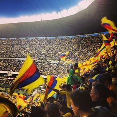 Photo taken at Estadio Azteca by Rebeca on 5/27/2013