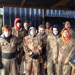 Photo taken at Delta Force Paintball - Upminster by Master Simon W. on 12/22/2013
