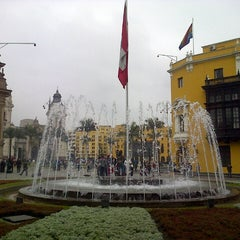 Photo taken at Plaza Mayor de Lima by Chef Christian C. on 8/5/2013