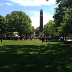 Photo taken at University of Alabama Quad by Bryan A. on 4/19/2014
