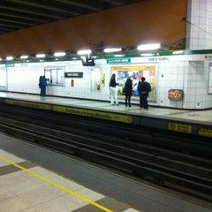 Photo taken at Metro Santa Isabel by Jorge P. on 4/10/2012