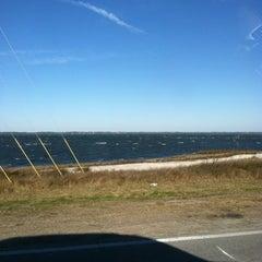 Photo taken at Harkers Island Draw Bridge by Lisa on 2/1/2013