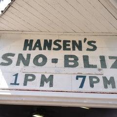 Photo taken at Hansen's Sno-Bliz by Danielle on 3/29/2013