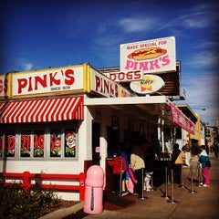 Photo taken at Pink's Hot Dogs by Sean R. on 12/31/2012