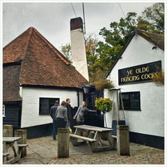 Photo taken at Ye Olde Fighting Cocks by Jonathan C. on 10/30/2011