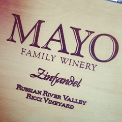 Photo taken at Mayo Family Winery by Calvin L. on 9/2/2014