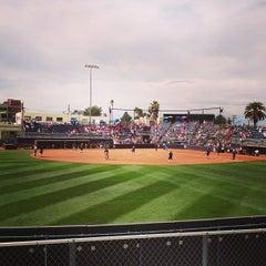 Photo taken at Rita Hillenbrand Memorial Stadium by Emily on 3/3/2013