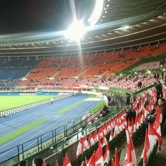 Photo taken at Ernst Happel Stadion by Julia on 10/16/2012