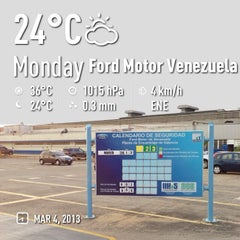 Photo taken at Ford Motor de Venezuela by Francisco H. on 3/4/2013