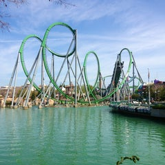 Photo taken at The Incredible Hulk Coaster by Silvia M. on 2/21/2013