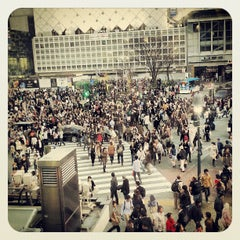 Photo taken at 渋谷駅 (Shibuya Sta.) by Stan K. on 3/9/2013