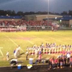 Photo taken at Hamshire-Fannett High School by Mandy on 10/19/2012