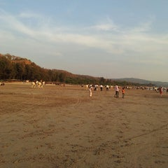 Photo taken at Kashid Beach by Chaitanya D. on 3/10/2013