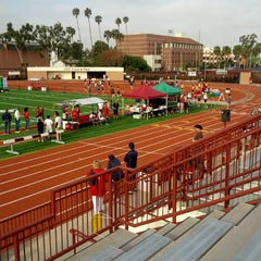 Photo taken at Cromwell Field & Loker Track Stadium by Jeffrey S. on 3/23/2013