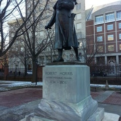 Photo taken at Robert Morris Statue by Ann H. on 2/9/2013