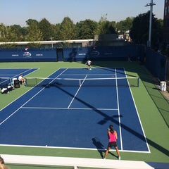 Photo taken at Practice Courts (1-5) - USTA Billie Jean King National Tennis Center by Irma Z. on 8/27/2014