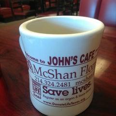 Photo taken at John's Cafe by Brandon C. on 3/10/2013