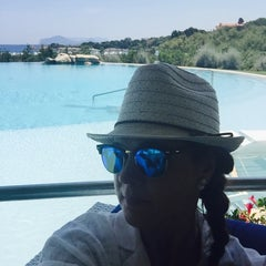 Photo taken at Hotel Romazzino, Costa Smeralda by Evi on 6/30/2015