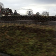 Photo taken at Bahnhof Rotkreuz by Vicky L. on 12/17/2012