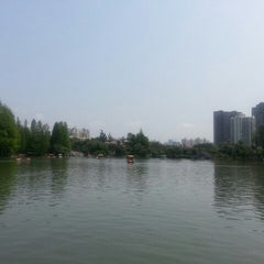 Photo taken at 四海公园 Sihai Park by alina a. on 4/12/2014