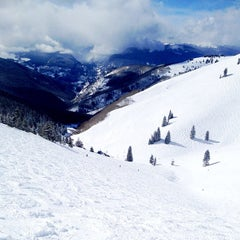 Photo taken at Back Bowls at Vail by Marcella on 2/10/2013