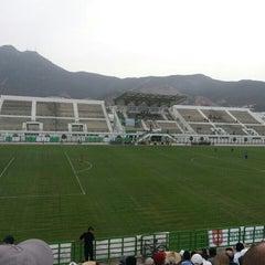 Photo taken at Stade Slaheddine Bey (CSHL) by Ahmed M. on 9/20/2014