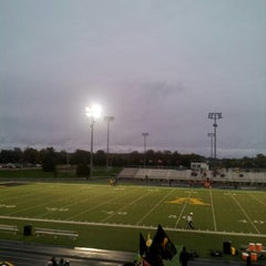 Photo taken at Avon High School Oriole Stadium by Mike W. on 10/5/2012