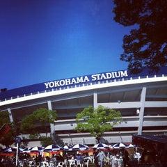 Photo taken at 横浜スタジアム (YOKOHAMA STADIUM) by 현희 on 6/3/2013