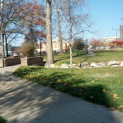 Photo taken at Peace Park by Mark T. on 11/9/2012