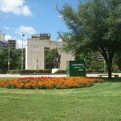 Photo taken at Parque Rivadavia by Valeria Vanesa V. on 1/9/2013