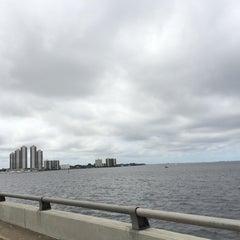 Photo taken at Caloosahatchee Bridge by Julie . on 4/19/2014