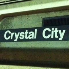 Photo taken at Crystal City Metro Station by Anna M. on 10/12/2012