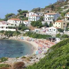 Photo taken at Spiaggia Seccheto by Rachele B. on 8/21/2013