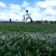 Photo taken at Campos De Futbol Las Minas by Jema R. on 6/21/2014