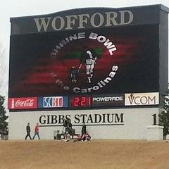 Photo taken at Gibbs Stadium by Monica D. on 12/21/2013