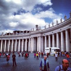 Photo taken at Piazza San Pietro by Aleksei S. on 5/11/2013