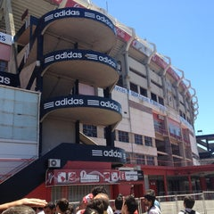 Photo taken at Estadio Monumental (River Plate) by Vanessa G. on 1/27/2013
